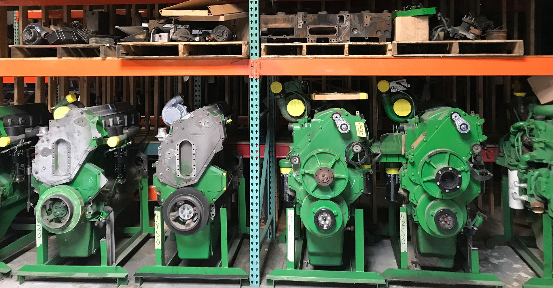 John Deere engines at Hill-T Farm parts